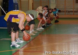 Работа ног баскетболиста